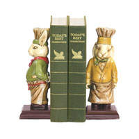 Sterling Industries Pair Chef Bunny Bookends Decorative Accessory 91-2799