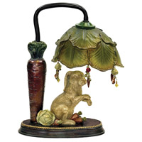 Sterling Industries Rabbit Under Leaf 1 Light Table Lamp in Alman Antique White / Green 91-297 photo thumbnail