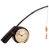 Rod n Reel 8 X 2 inch Desk Clock