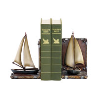 Sterling Industries Pair Sailboat Bookends Decorative Accessory 91-3907 photo thumbnail