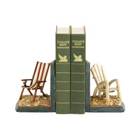 Sterling Industries Pair Beach Chair Bookends Decorative Accessory 91-4206 photo thumbnail