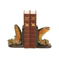 Sterling Industries Pair Rainbow Trout Bookends Decorative Accessory 91-4653 photo thumbnail