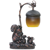 Sterling Industries Squirrel Acorn 1 Light Table Lamp in Burwell Bronze 91-768