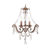 Petite Deville 3 Light 18 inch Mini Chandelier Ceiling Light