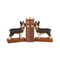 Sterling Industries Pair Boston Terrier Bookends Decorative Accessory 93-0797