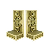 Sterling Industries Pair Medallion Scroll Bookends Decorative Accessory 93-0942