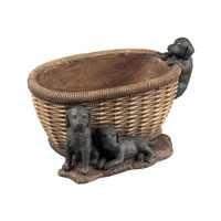 Sterling Industries Puppies In Basket Keep Sake Dish Decorative Accessory in Newtown 93-10039