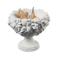 Sterling Industries Seashell Bowl Decorative Accessory in Chalk 93-10043