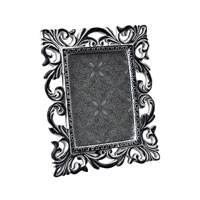Sterling Industries Antique White Scrool Picture Frame Decorative Accessory in Successor Black 93-10044