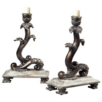 Sterling Industries Set Of 2 Scroll Candle Holders Decorative Accessory in Baron 93-10047/S2