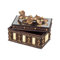 Sterling Industries Keepsake Box With Mirrored Top Decorative Accessory in Barington Bronze 93-10048 photo thumbnail