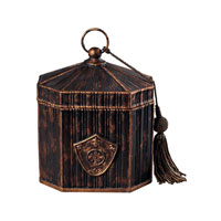Sterling Industries Keepsake Box With Tassel Decorative Accessory in Barden Bronze 93-10053