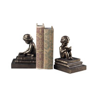 Sterling Industries Study Time Bookends Decorative Accessory in Bronze 93-10059/S2 photo thumbnail