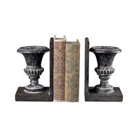 Sterling Industries Distressed Black Urn Bookends Decorative Accessory in Successor Black 93-10065/S2
