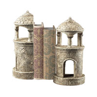 Sterling Industries Turret Bookends Decorative Accessory in Vintage Black 93-10066/S2 photo thumbnail