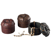Sterling Industries Set Of 3 Autumn Color Keep Sake Boxes Decorative Accessory in Autumn Leaves 93-10068/S3