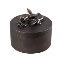 Sterling Industries Humming Nird Box Decorative Accessory in Quill Bronze 93-10069