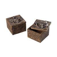 Sterling Industries Scroll Top Keep Sake Boxes Decorative Accessory in Gramercy 93-10071/S2