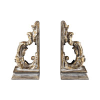 Sterling Industries Florintine Scroll Bookends Decorative Accessory in Devon Gold 93-10078/S2 photo thumbnail