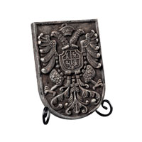 Sterling Industries Coat Of Arms Plaque Picture Frame in Weaver Grey 93-10079