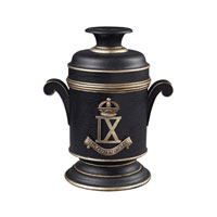 Sterling Industries 3Rd Cavalry Bombay Box Decorative Accessory in Barnett Black With Gold 93-10081