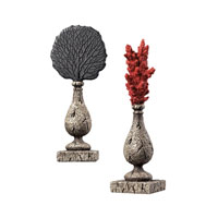 Sterling Industries Coral Finials Decorative Accessory in Martinique Grey 93-10082/S2