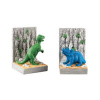 Sterling Industries Kids Dinosar Bookends Decorative Accessory in Bright Green / Blue / Grey 93-10088/S2