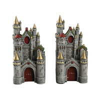 Sterling Industries Princess Castle Bookends in Dumont Grey 93-10092
