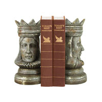 Sterling Industries Pair King & Queen Bookends Decorative Accessory 93-1160
