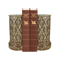 Sterling Industries Pair Floral Lattice Bookends Decorative Accessory 93-1170