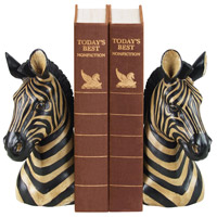 Sterling Industries Pair Zebra Bookends Decorative Accessory 93-1220
