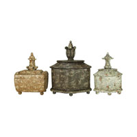 Sterling Industries Set of 3 Finial Keepsake Boxes Decorative Accessory 93-1440