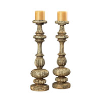 Sterling Industries Flemish Carved Candel Holders Decorative Accessory in Arabi 93-19169
