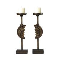 Sterling Industries Set of 2 Reclaimed Artifact Candle Holders in Brandywine Wood 93-19293/S2