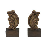 Sterling 93-19294/S2 Reclaimed Artifact 9 X 4 inch Brandywine Wood Bookends photo thumbnail