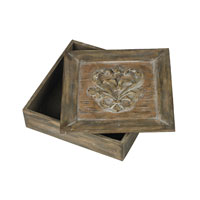 Sterling Industries Reclaimed Fleur De Lis Artifact Box in Applegate Wood 93-19298