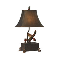 Sterling Industries Bird On Berry Branch Mini 1 Light Table Lamp in Berry Bronze 93-19303