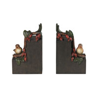 Sterling Industries Set of 2 Bird On Berry Branch Bookends in Berry Bronze 93-19304/S2