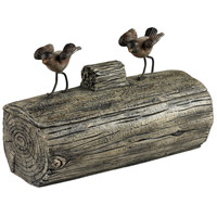 Sterling 93-19311 Little Birds On A Log 11 X 5 inch Cedar Pond Box