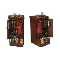 Messy Wardrobe Handpainted Gloss Mahogany Bookends