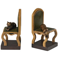 Cat On A Chair Gerard Wood Bookends