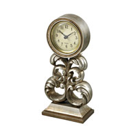 Sterling Signature Clock in Antique Silver 93-19318