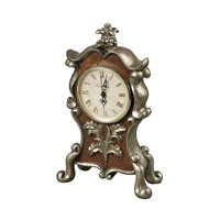 Sterling Signature Clock in Scholes Silver and Brown 93-19322