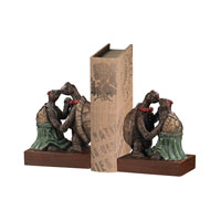 Sterling Set of 2 Kissing Turtle Bookend in Handpainted Finish 93-19364/S2 photo thumbnail