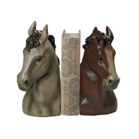 Sterling Signature Bookend in Grey And Bay Paint With Antique 93-19365/S2