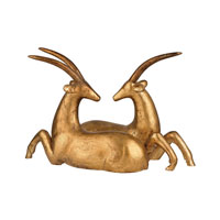 African Gazelle Gold Leaf Statuary