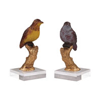 Sterling Set of 2 Birds Statuary in Handpainted Finish 93-19383/S2