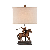 Sterling Polo Player 1 Light Lamp in Bronze 93-19385
