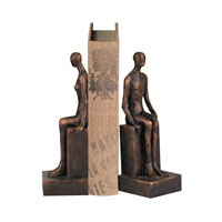Sterling Set of 2 Male and Female Form Bookend in Bronze 93-19390/S2