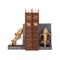 Sterling Industries Pair French Fleur Bookends Decorative Accessory 93-3054